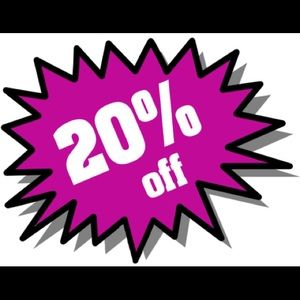 20% off when you bundle 3 or more items!!